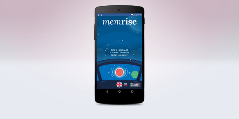 Memrise logo on a smartphone screen